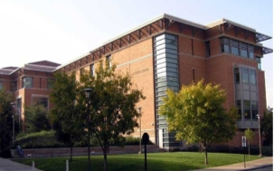 The library building of UC Riverside campus