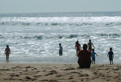 Beach kids-Steve Caldwell