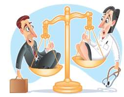 A comparison of doctors and lawyers