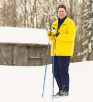 In Michigan's Upper Peninsula, Jim Hubbard, M.D., enjoys his access to skiing.