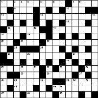 Crossword grid Fall 2013