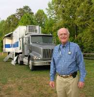 Volunteering for the Remote Area Medical (RAM) Volunteer Corps wasn't enough for for pulmonologist Joseph Smiddy, M.D. So he bought an old tractor trailer and outfitted it with state-of-the-art X-ray machines. After 180 hours of driver's training, he became licensed to drive the unit to RAM and other community health clinics.